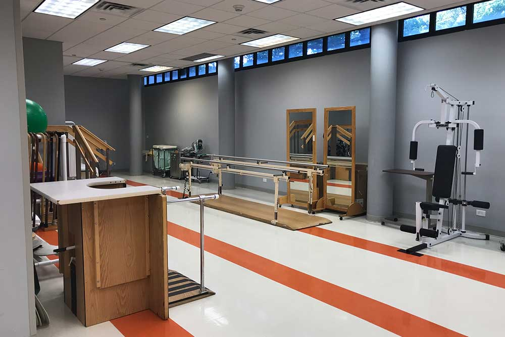 Rehabilitation equipment, physical therapy equipment at Morningside facility.